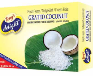 Tony's Delight Coconut Grated Box - Pack Size - 4x28x100gm