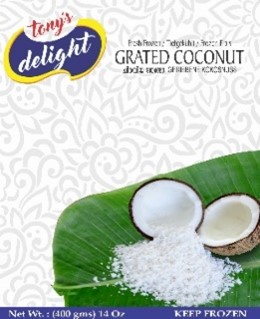 Tony's Delight Coconut Grated Pouch - Pack Size - 32x400gm