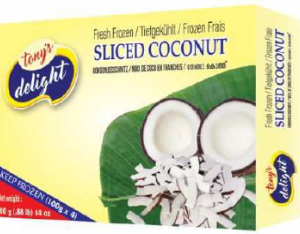 Tony's Delight Coconut Sliced - Pack Size - 28x400gm