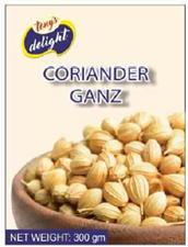 Tony's Delight Coriander Whole 600gm - Pack Size - 12x600gm
