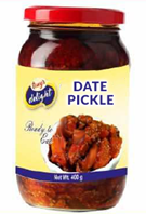 Tony's Delight Date Pickle - Pack Size - 12x400gm