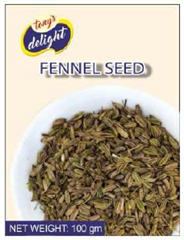Tony's Delight Fennel Seed 100gm - Pack Size - 20x100gm