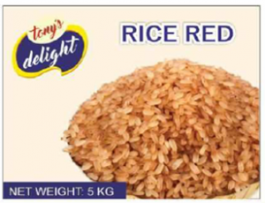 Tony's Delight Rice Red 5kg - Pack Size - 5x5kg