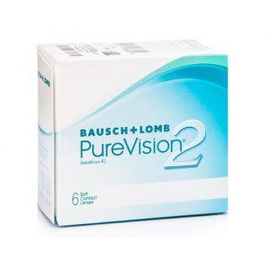 PureVision Contact Lenses Visibility Tinted -3.00 BC/86 6 Units