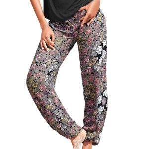 Striped Printed Waist Controlled Loose Casual Pants Beach Pants Yoga Pants - Multi - XX Large