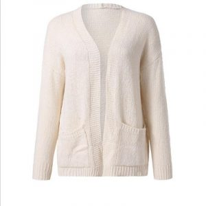 Autumn and Winter New   Hot Exclusive  Knitted Cardigan Sweater Coat - Ivory - XXXXX Large