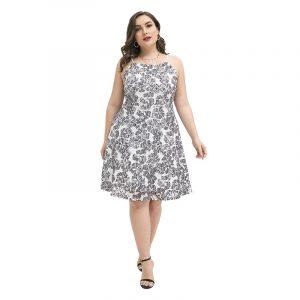 2021  Summer New  Plus Size Women  Clothes Fresh Sweet Princess Dress Elegant Intellectual Lace Dress - Black White - XXXX Large