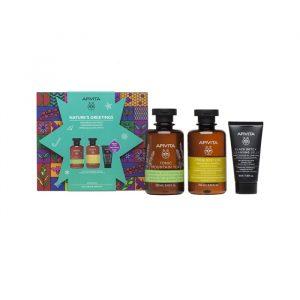Apivita Freshness Y Soft Shampoo + Gel + Gel Cleansing Face Y Eyes Set 3 Pieces