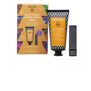 Apivita Hyaluronic Hand Cream Y Honey Intensive Hydration 50ml Set 2 Pieces