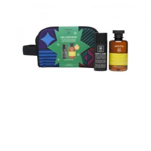 Apivita Men's Care Anti-Wrinkle Cream Y Anti-Fatigue Face & Eyes 50ml Set 3 Pieces