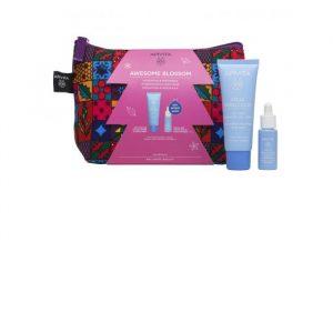 Apivita Aqua Beelicious Moisturizing Cream Comfort Texture Light 40ml Set 3 Pieces