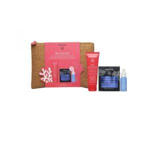 Apivita Bee Sun Safe Anti-Spot & Anti-Age Defense Face Cream SPF50 50ml Set 4 Pieces