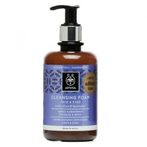 Apivita Cleansing Foam Face And Eyes With Olive And Lavender 300ml