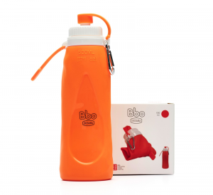 Botella Bbo Silicona 500ml Naranja Irisana