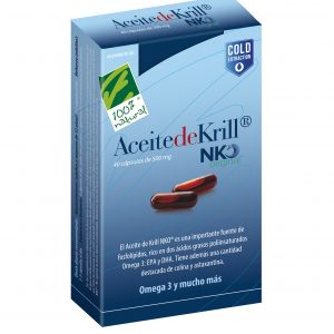 100%natura Aceite De Krill Nko 40 Cap De 500 Mg