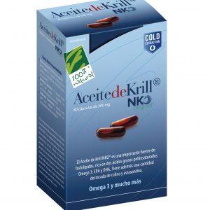100%natura Aceite De Krill Nko 80 Cap De 500 Mg