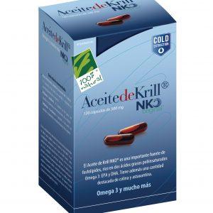 100%natura Aceite De Krill Nko 120 Cap De 500 Mg