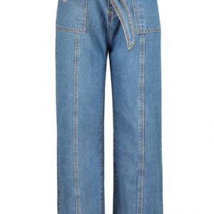2021 Fashion Solid Color Slim Belt Jeans - Blue - Extra Large