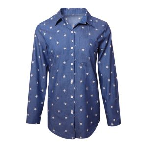 2021 Plus Size Summer New Women Clothing Denim Long Sleeved Shirt - Multi - XXXXX Large