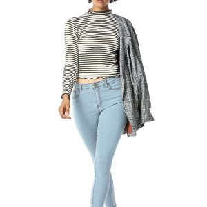 Jeans Women Stretch Washed Slim Fit Women Jeans Skinny Pants - Light-Colored - Extra Large