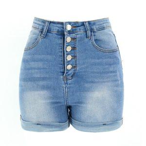 Women Denim Shorts Women plus Size Hot Pants Women - light blue - Large