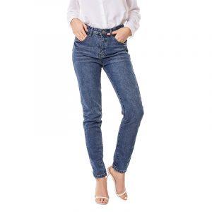 Style Jeans Women Oversized Jeans Street Jeans Denim Flare Cut Pants - Navy Blue - Small