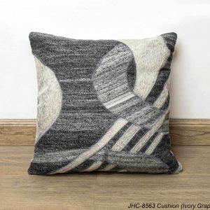 Cushion  JHC-8563  Ivory Graphite  16x16