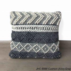 Cushion  JHC-8568  Ivory Graphite  18x18