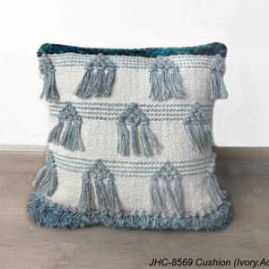 Cushion  JHC-8569  Ivory Aqua  18x18