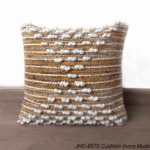 Cushion  JHC-8570  Ivory Mustard  18x18