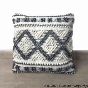 Cushion  JHC-8572  Ivory Graphite  18x18