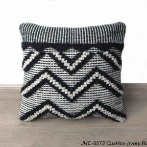 Cushion  JHC-8573  Ivory Black  18x18