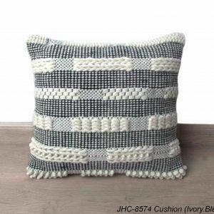 Cushion  JHC-8574  Ivory Black  18x18