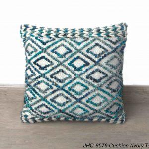 Cushion  JHC-8576  Ivory Teal  18x18