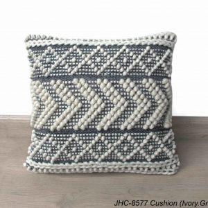Cushion  JHC-8577  Ivory Grey  18x18