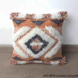 Cushion  JHC-8578  Ivory Multi  18x18