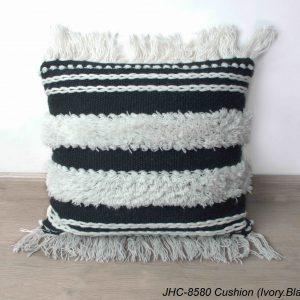 Cushion  JHC-8580  Ivory Black  18x18