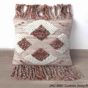 Cushion  JHC-8581  Ivory Rust  18x18
