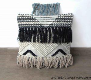 Cushion  JHC-8587  Ivory Grey  18x18