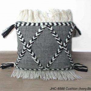 Cushion  JHC-8588  Ivory Black  18x18