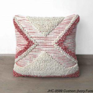 Cushion  JHC-8589  Ivory Fuschia  18x18