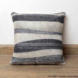Cushion  JHC-8591  Ivory Graphite  16x16