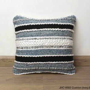 Cushion  JHC-8592  Ivory Blue  18x18