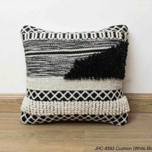 Cushion  JHC-8593  White Black  18x18