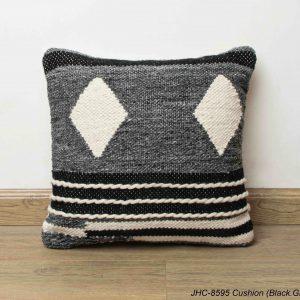 Cushion  JHC-8595  Black Grey  18x18