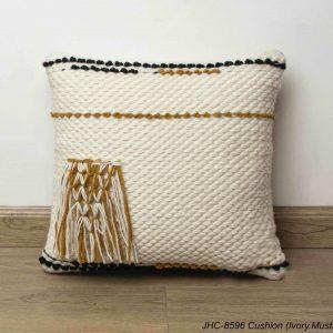 Cushion  JHC-8596  Ivory Mustard  18x18