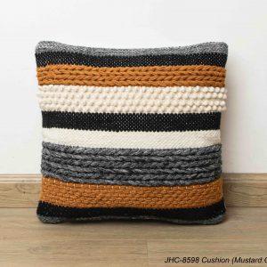 Cushion  JHC-8598  Mustard Grey  18x18