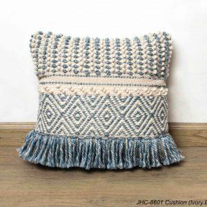 Cushion  JHC-8601  Ivory Blue  18x18