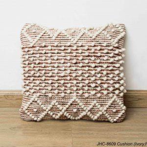 Cushion  JHC-8609  Ivory Rust  18x18
