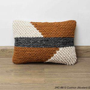Cushion  JHC-8613  Mustard Grey  12x16